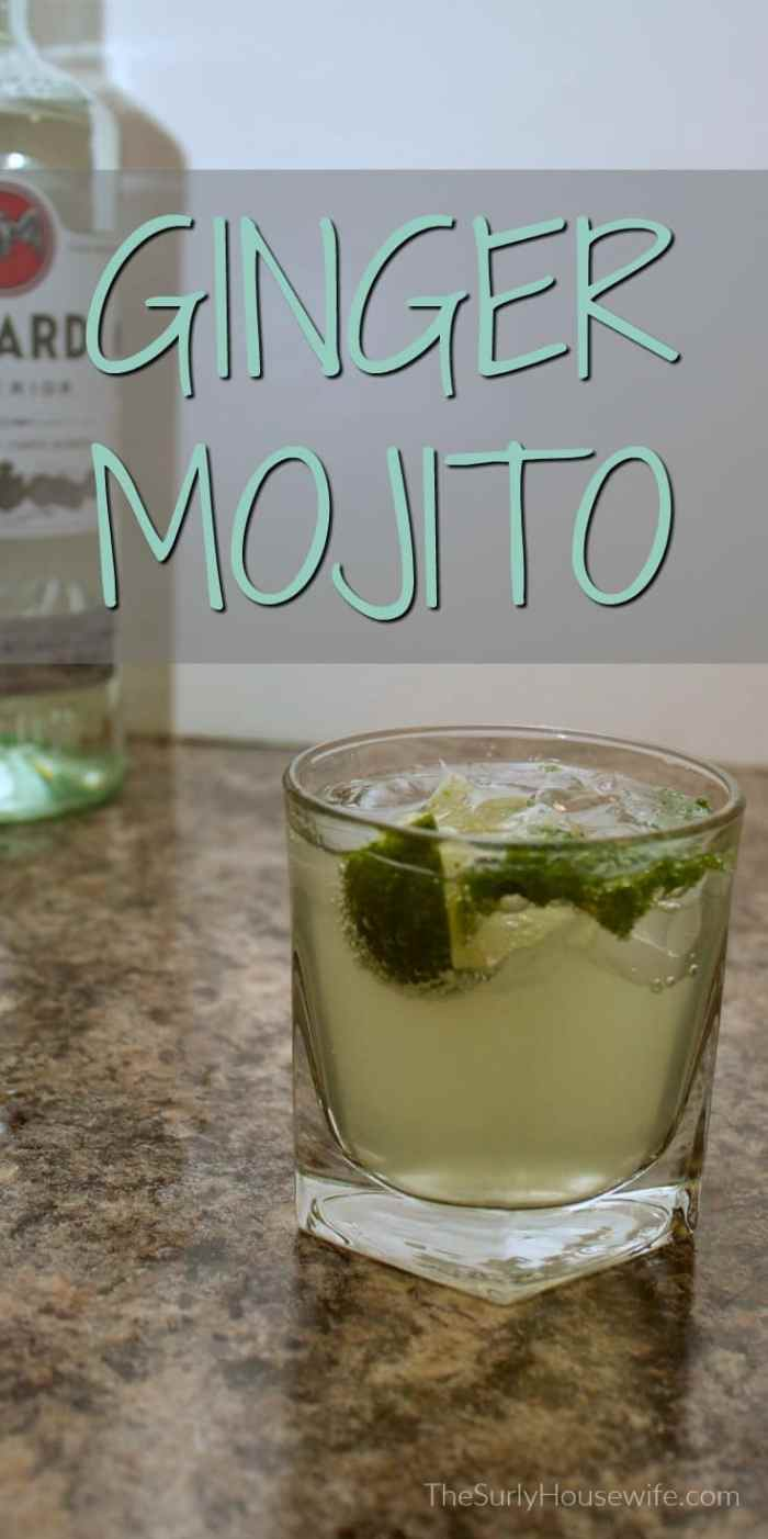 Everyone loves a classic mojito. I decided to change it up a little by adding my favorite ginger soda, Vernors. Click here for my ginger mojito recipe!