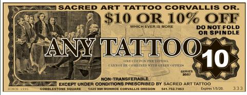 sacred art tattoo coupon