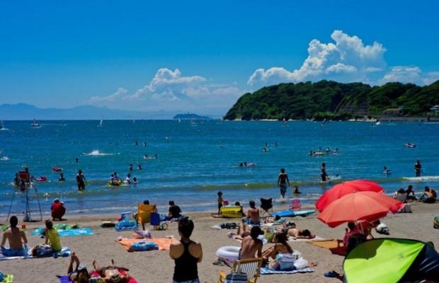 Zushi Beach. Image via japantoday