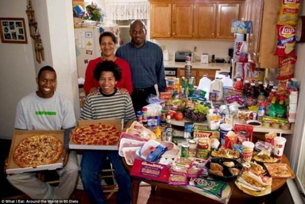 Een week aan boodschappen en eten in Amerika. Onderdeel van de serie 'Eat Around The World'.