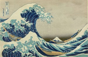 Great Wave off Kanagawa door Hokusai. Foto via WikiMedia.