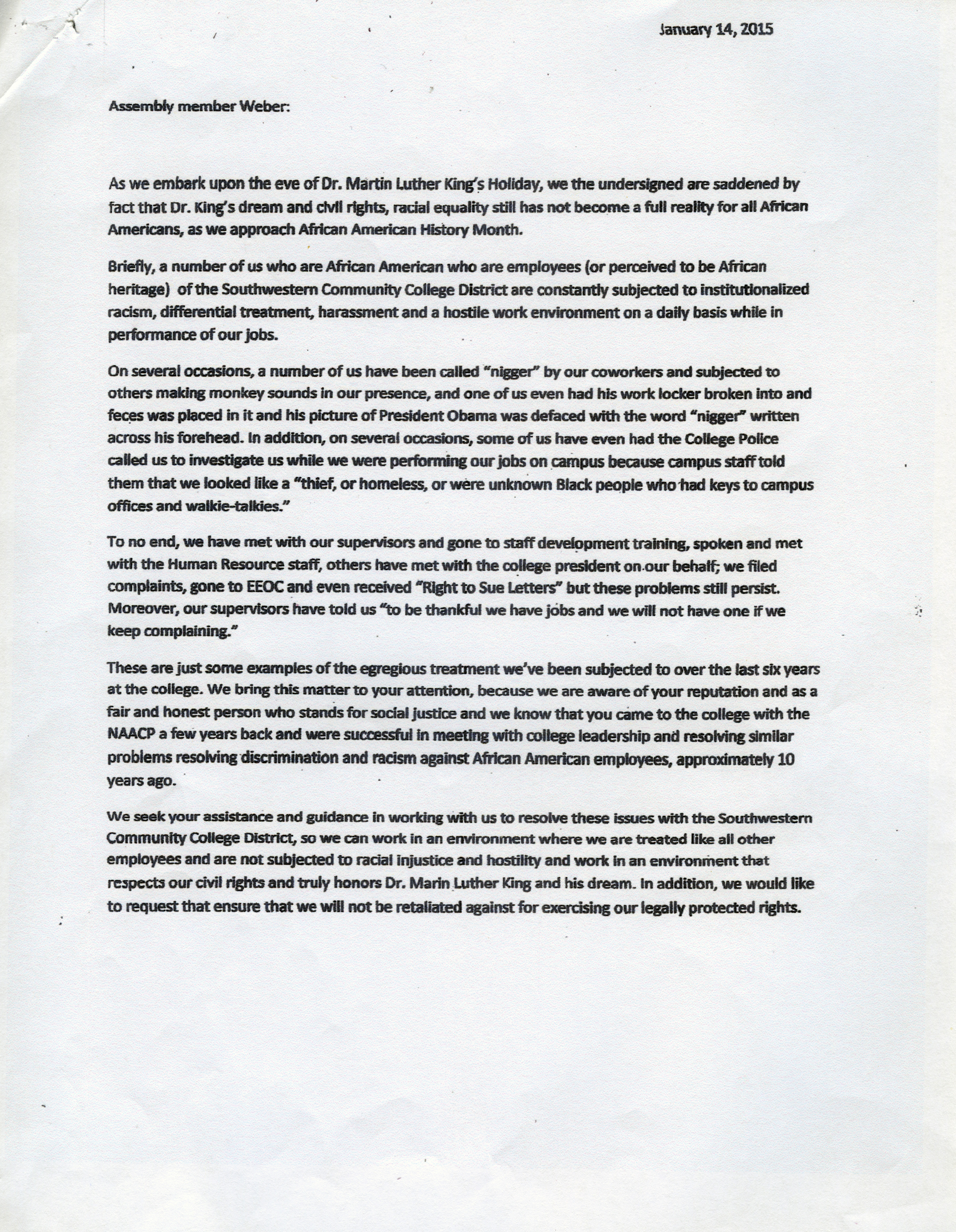 How To Write A Discrimination Complaint Letter