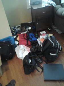 decluttering, organizing, launch pad