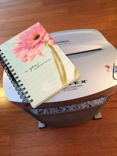 Do you need some help with emotional recovery after facing some tough situations? I found myself in that boat! Here's how I'm using my journal and shredder for emotional recovery.