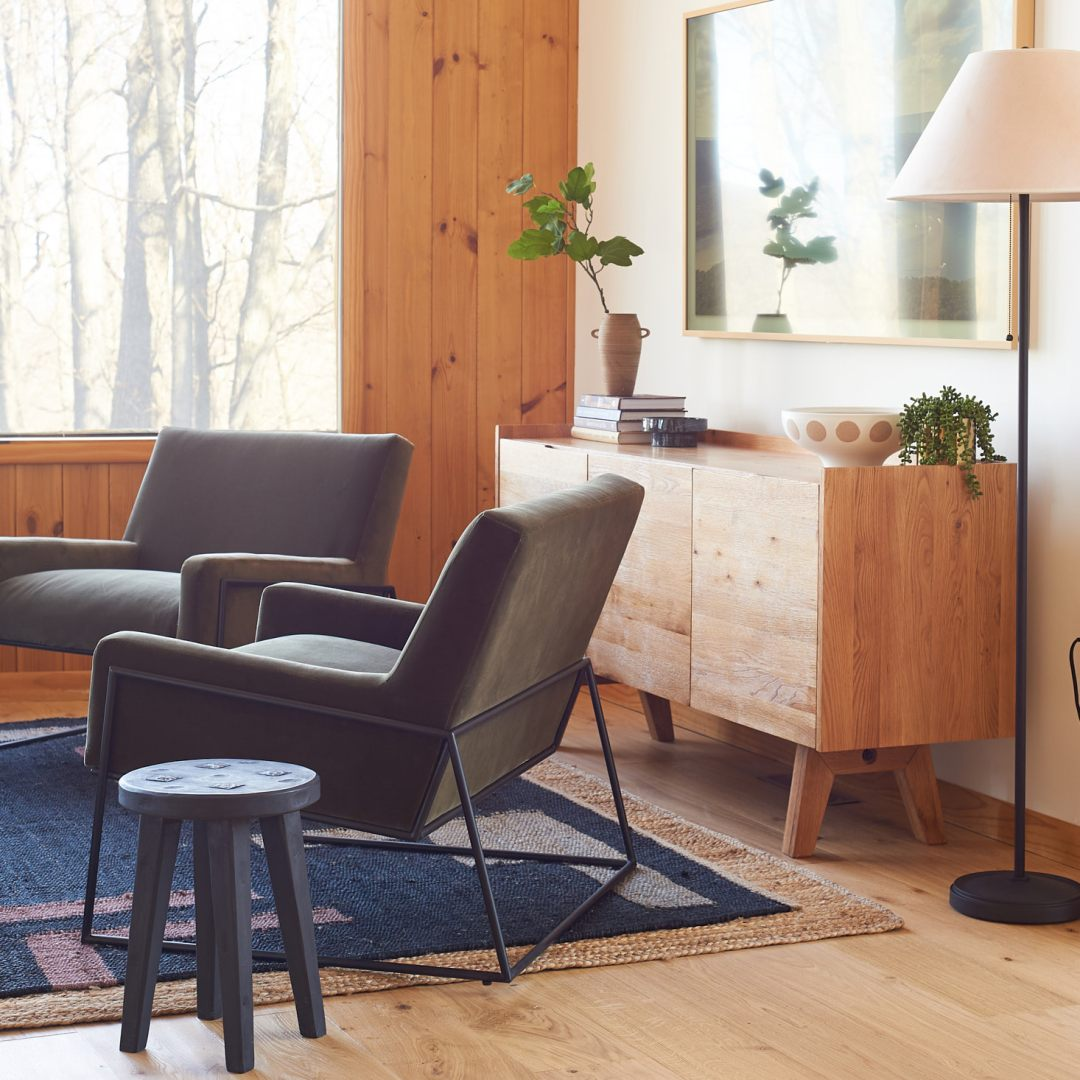 Article Regis Chairs and Madera Sideboard