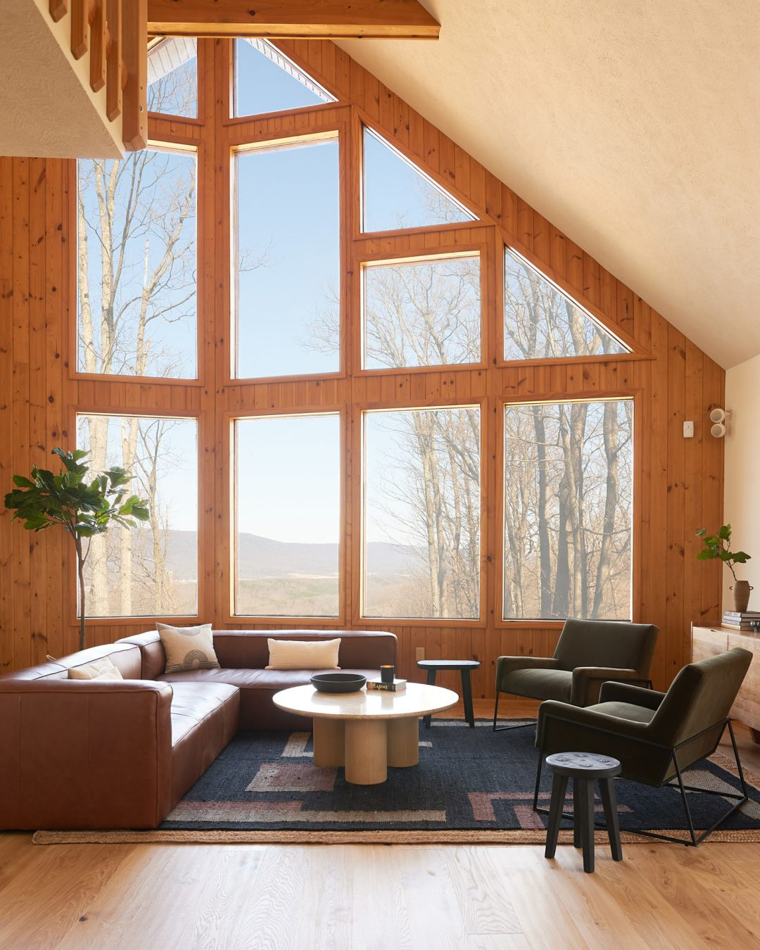 A-Frame living room with Article Furniture