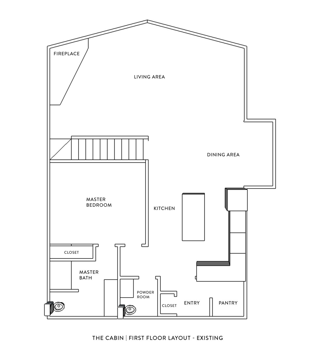 Cabin Floor Plan - Main Floor Layout