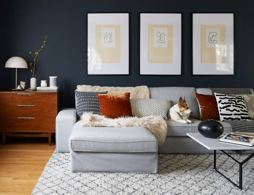 diy large abstract art living room