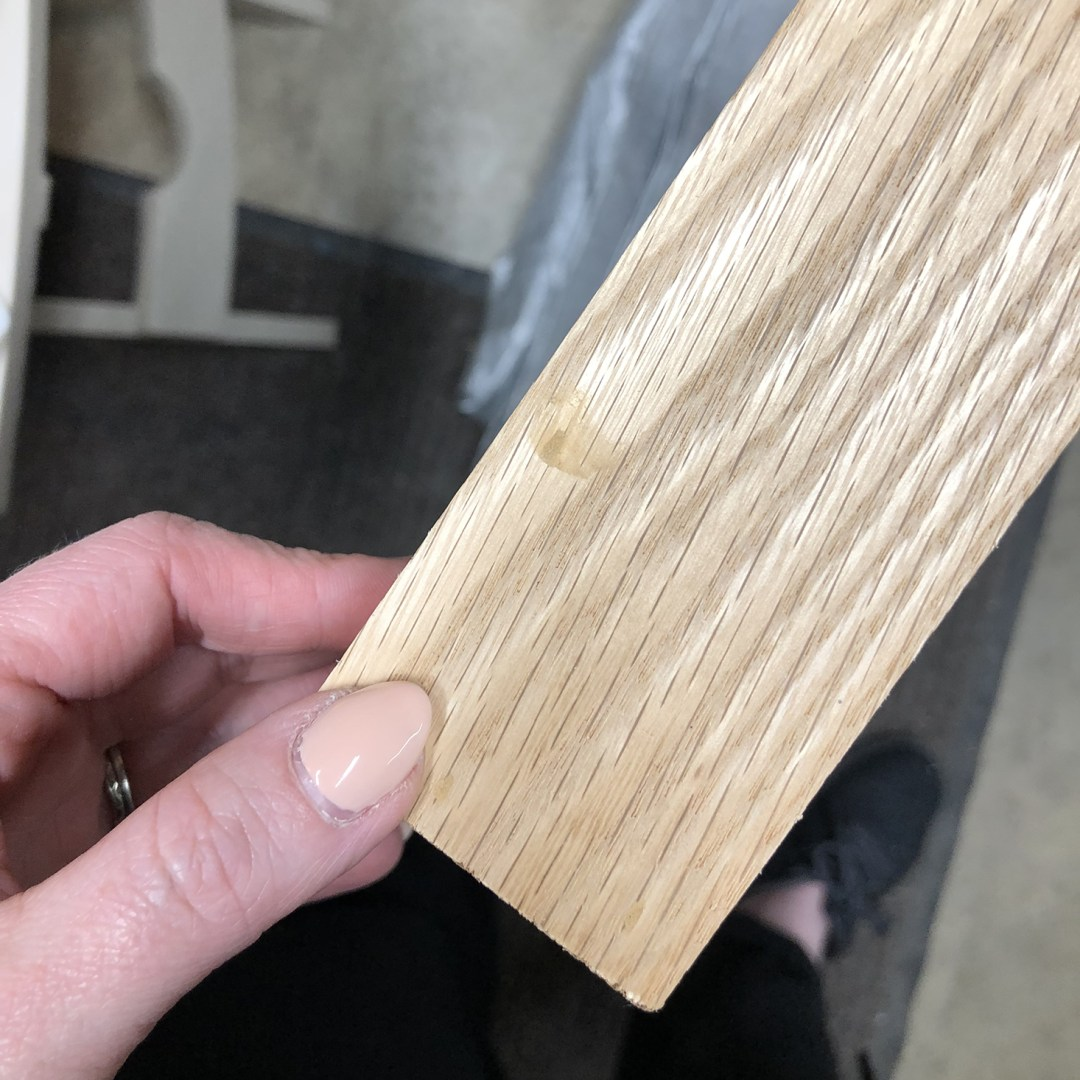 Filling Nail Holes with wood filler