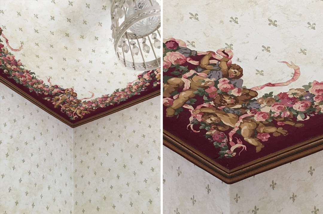 Before - The Powder Room Cherubs on the Ceiling | The Sweet Beast Blog