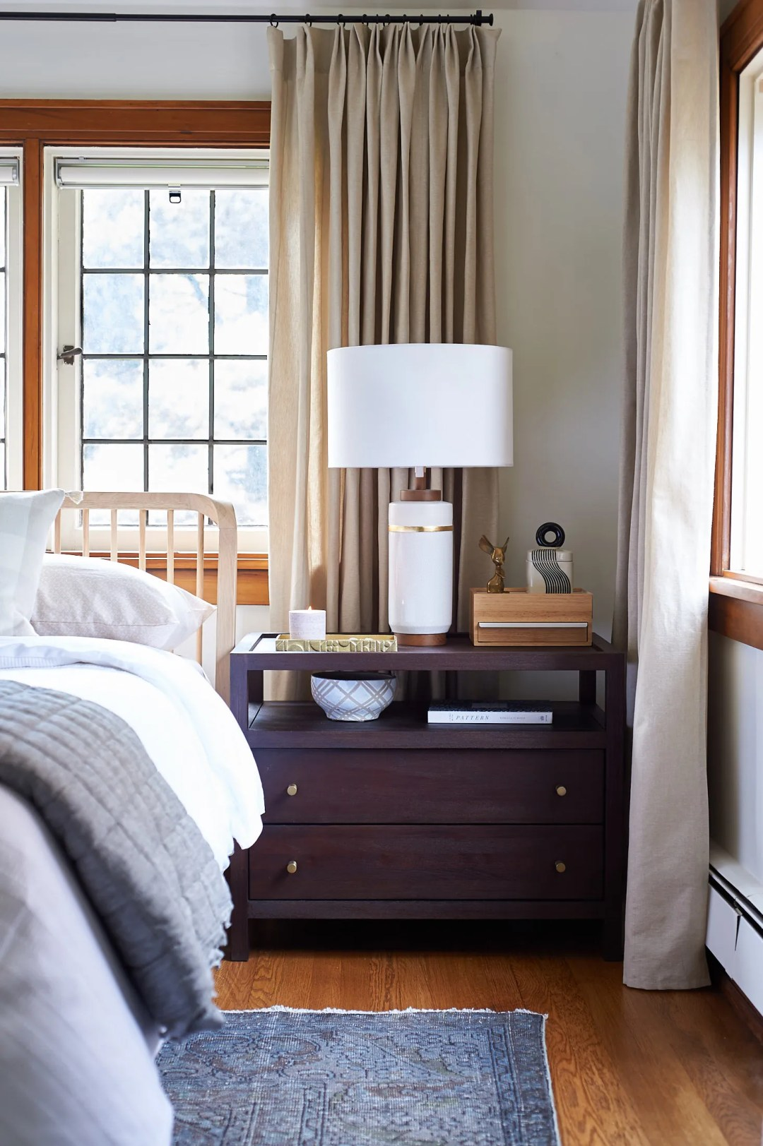 Crate and barrel keane nightstand