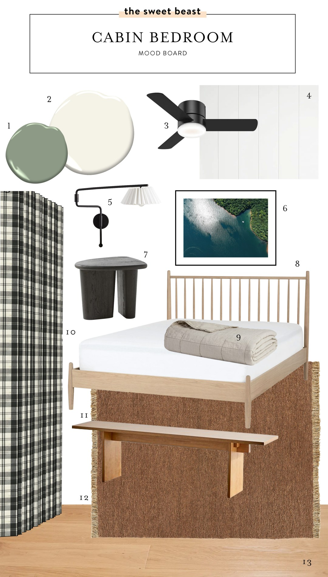 Cabin Bedroom Mood Board