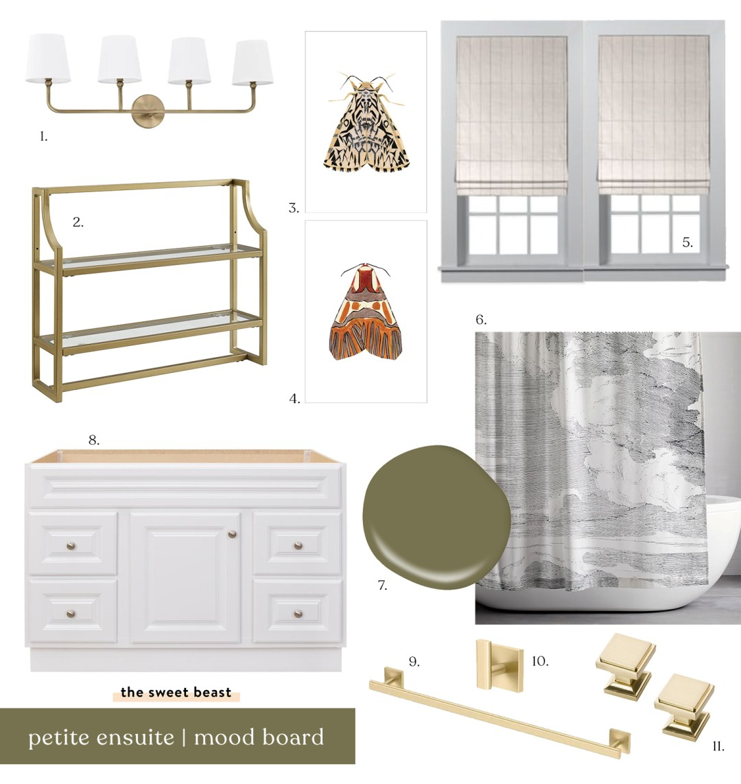 Ensuite Bathroom Traditional Modern Mood Board