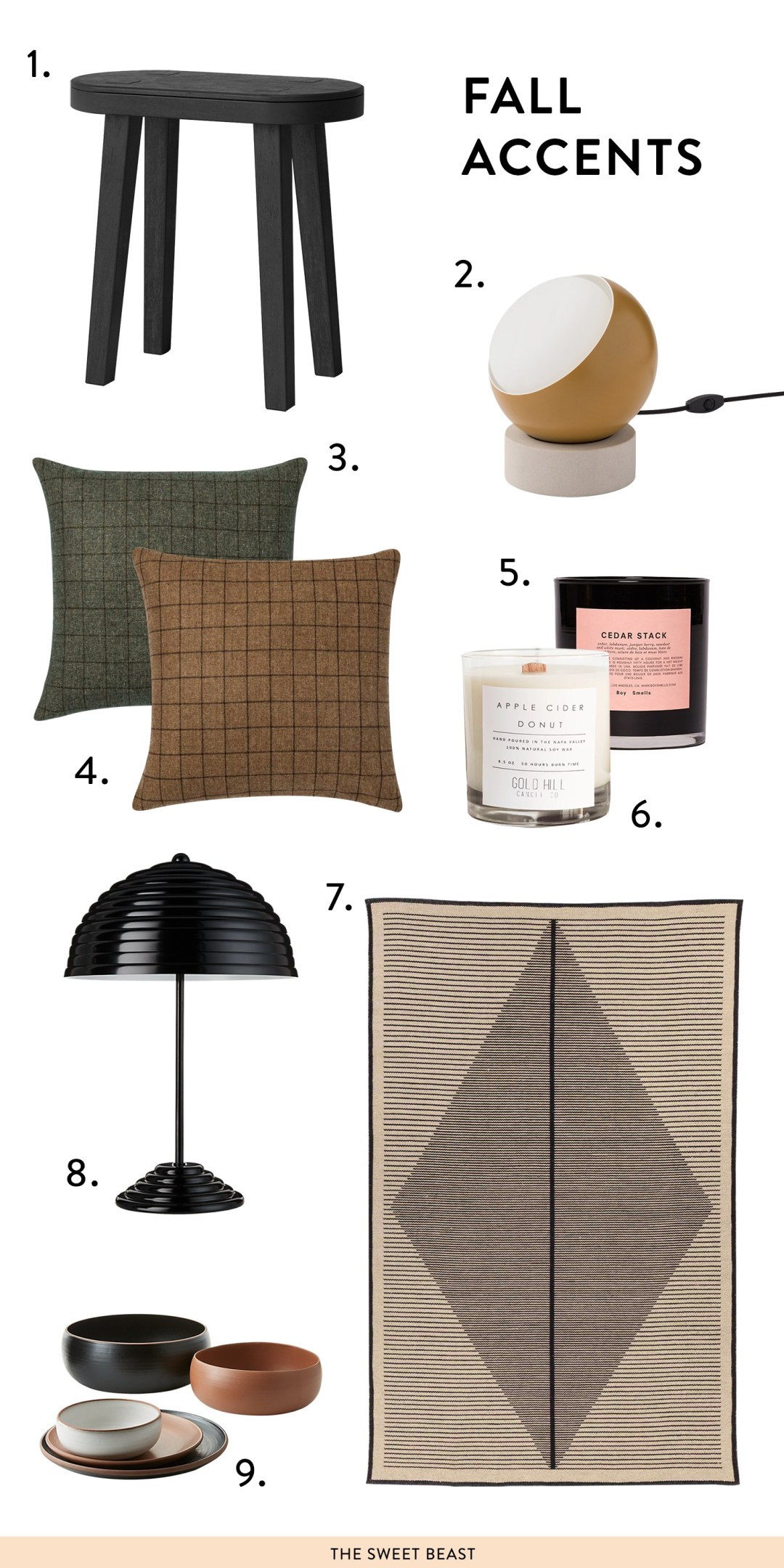 fall home accessories