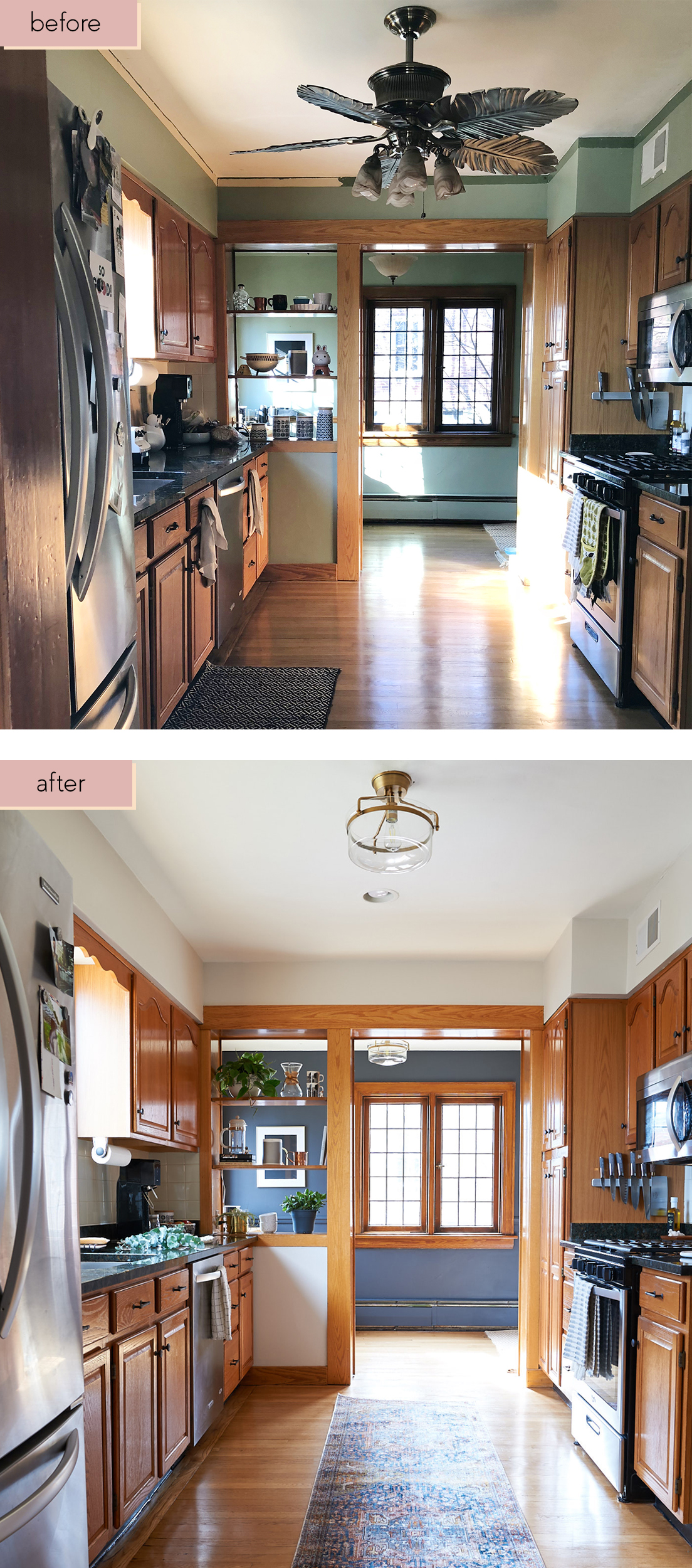 kitchen facelift menards faucets our two weekend 600 the sweet beast oak cabinets neutral pinterest