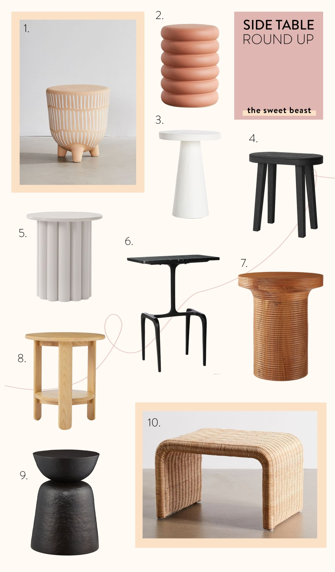 Side Table Round Up