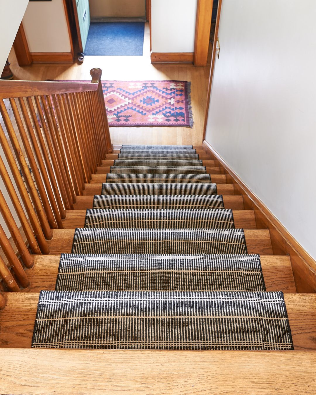 Stair runner view from top of stairs