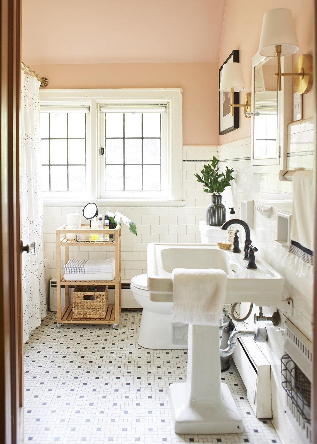 Blush Bathroom Restoration - The Sweet Beast Blog
