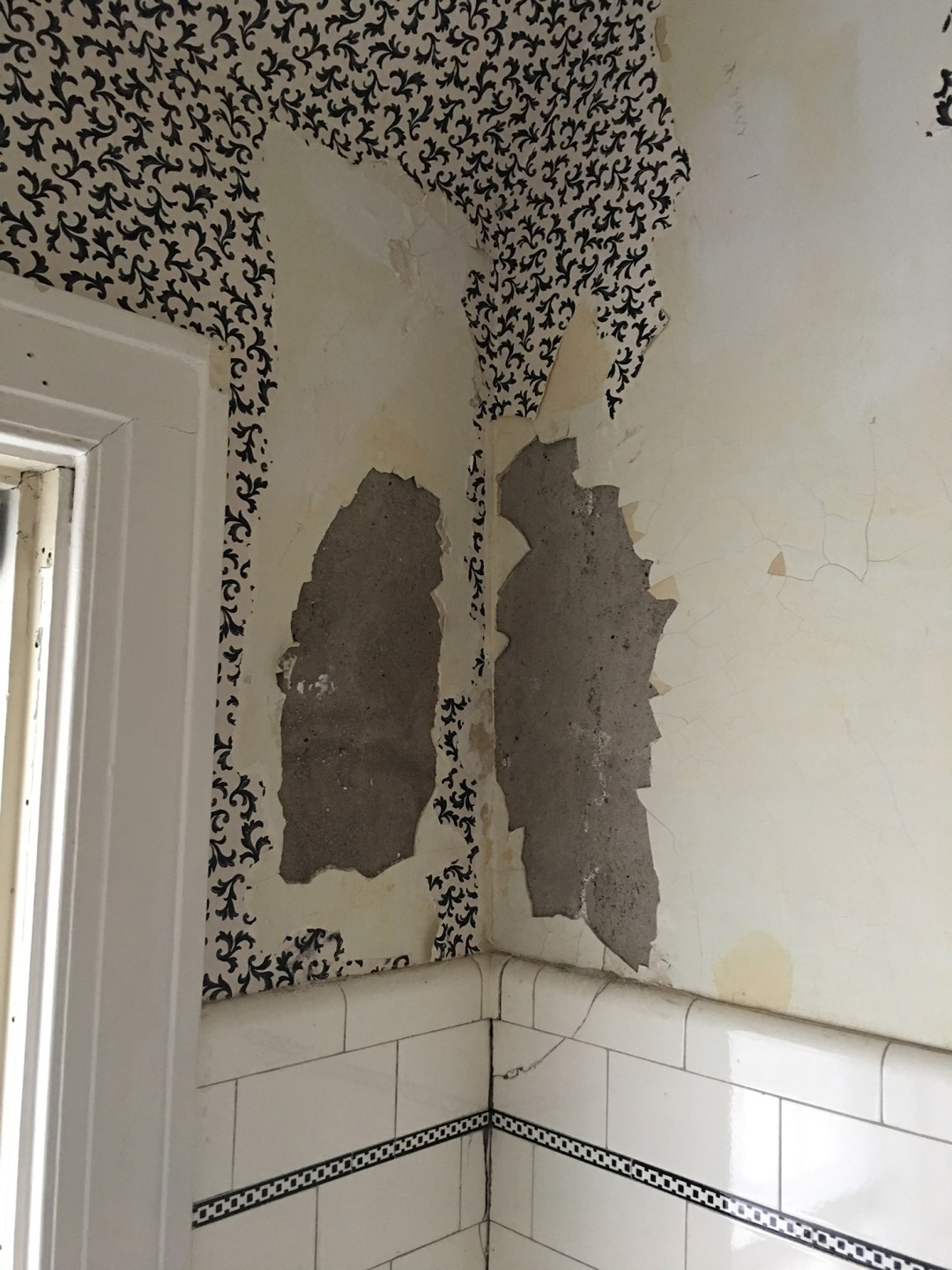plaster in poor condition