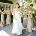 Champagne bridesmaid dresses a bryan photography
