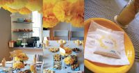 Gray and Yellow Baby Shower by Chelle Paperie