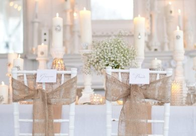 How To Make Burlap Chair Sashes