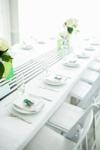 A Graphic Black + White Modern Baby Shower