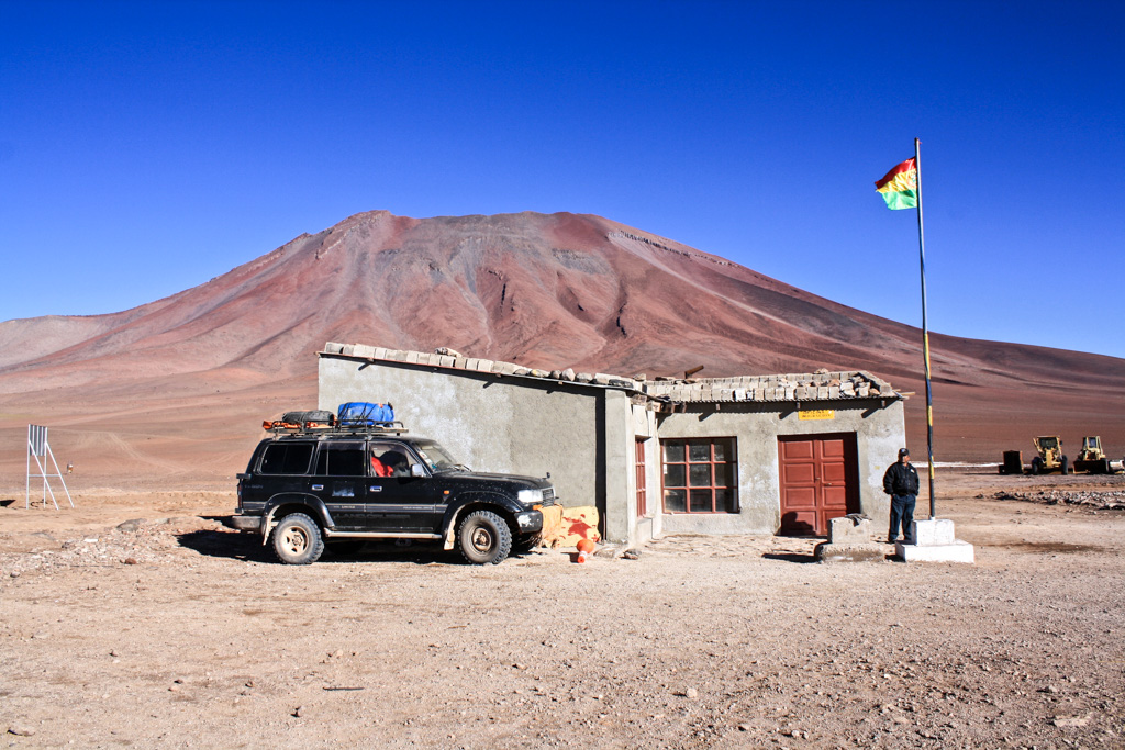 Immigrations office at the Bolivia-Chile border