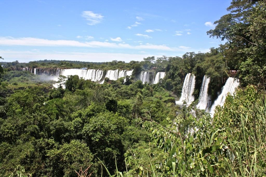 Solo travel at Iguazu Falls.