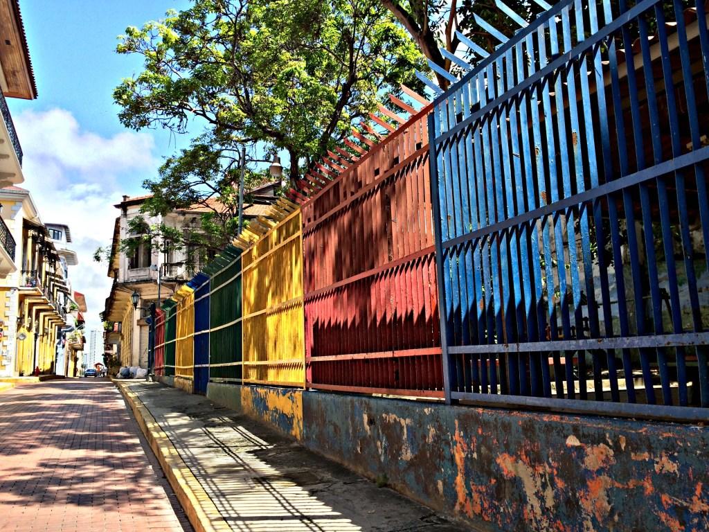 Bright colors in Casco Viejo.