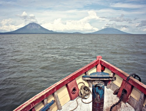 Isla de Ometepe from the ferry.