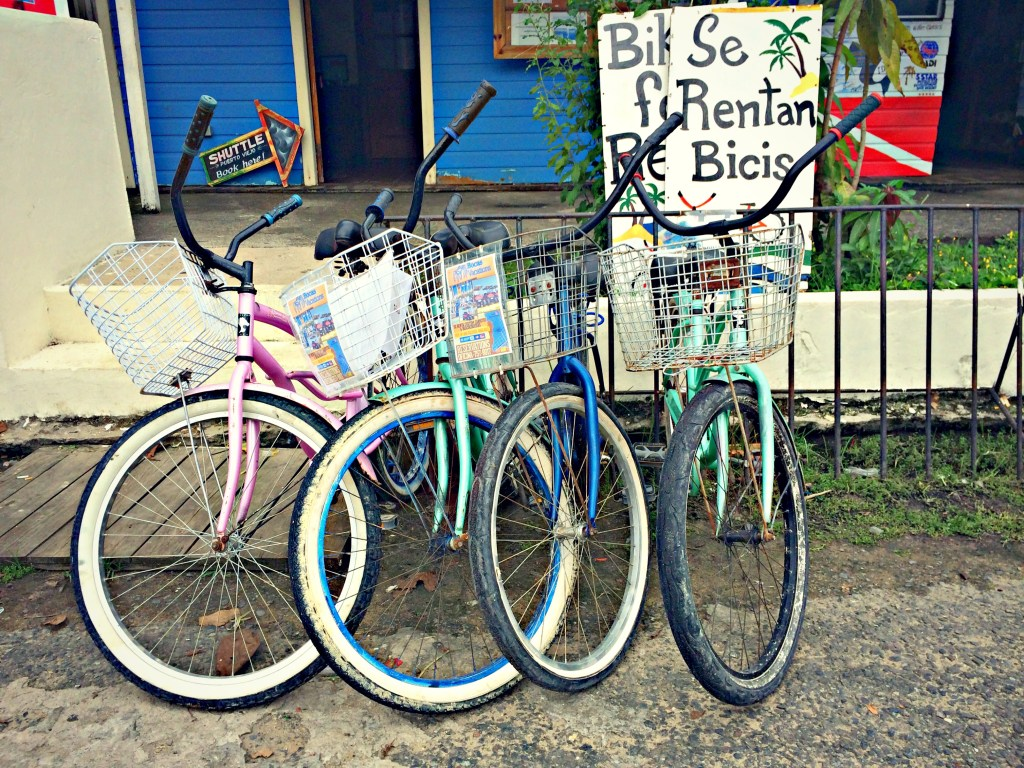 Bicycles for rent in Bocas del Toro, Panama