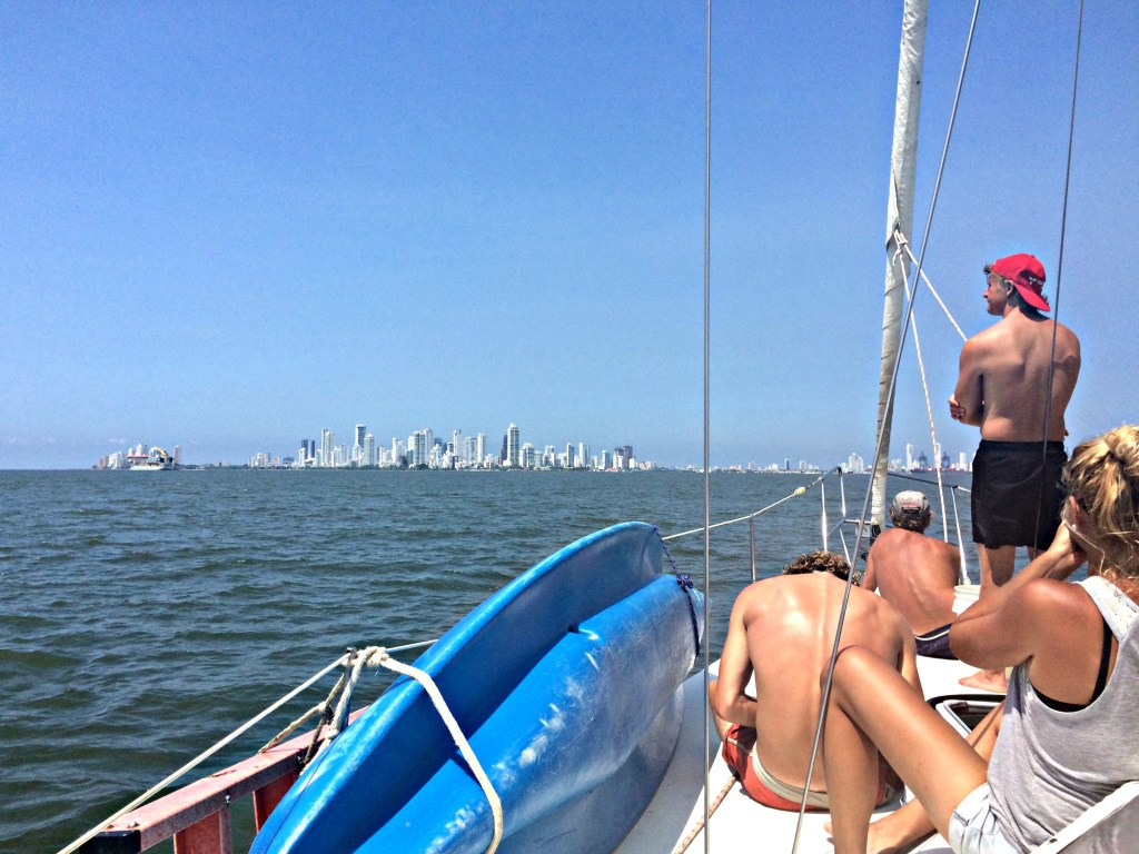 Arriving in Cartagena on the Sailboat Victory