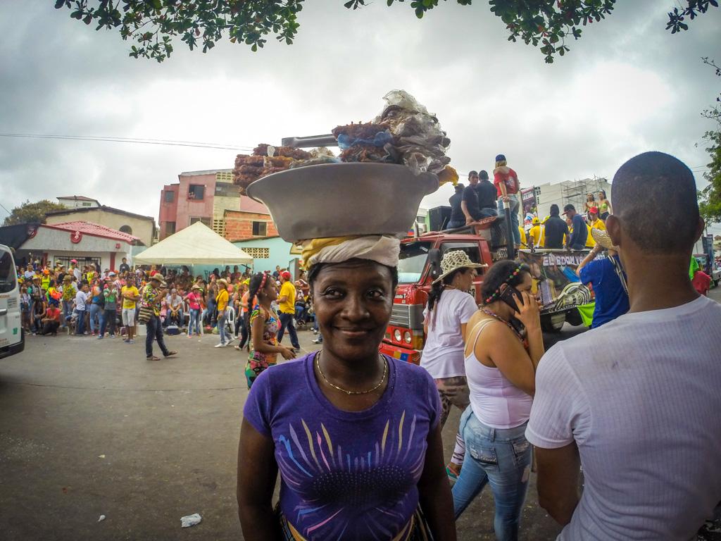 Vendors at Carnival in Barranquilla