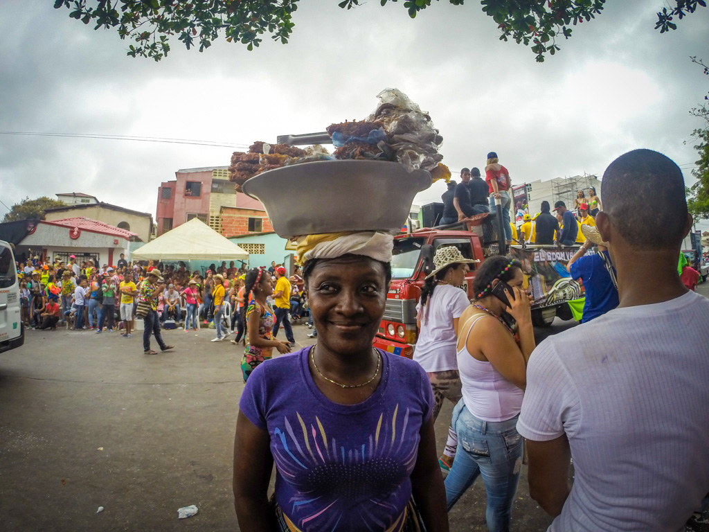 Vendors at Carnival in Barranquilla