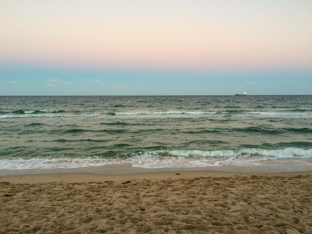 Brilliant colors at dusk on Fort Lauderdale Beach