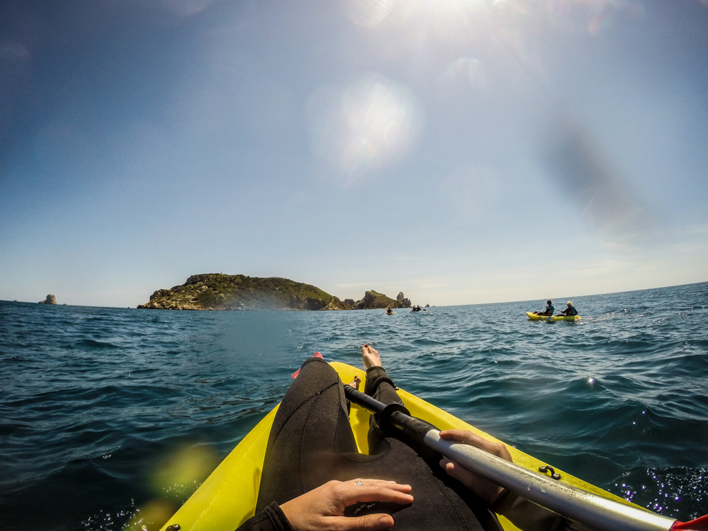 Kayaking to Les Medes Islands, Catalonia, Spain
