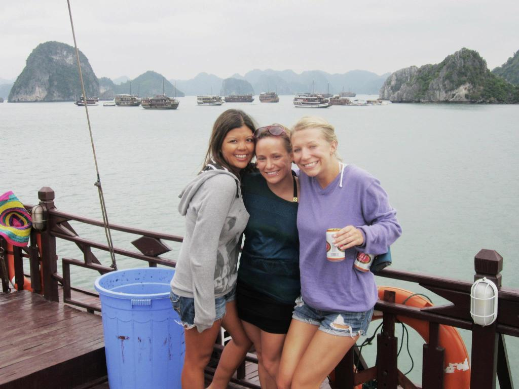 On a three-day party cruise in Ha Long Bay