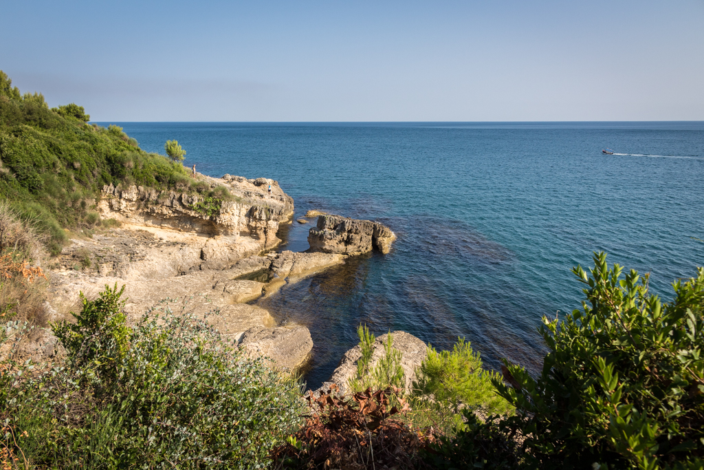 The coastal path to Long Beach, Ulcinj, Montenegro