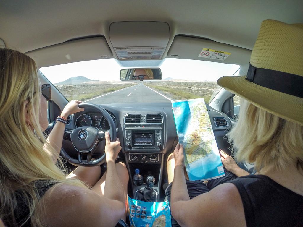 Driving around Fuerteventura, Spain