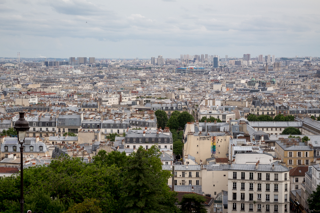 Enjoying the view from Sacre Cœur Basilica, Montmartre, Paris.