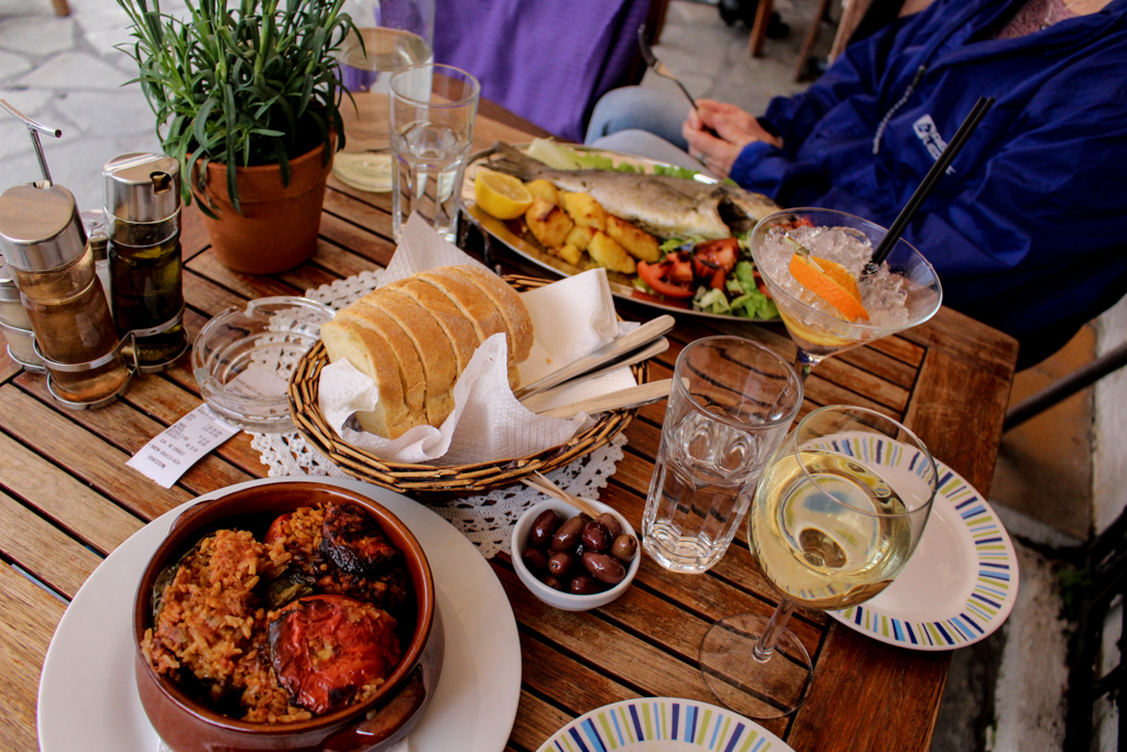 Greek food in Athens, Greece