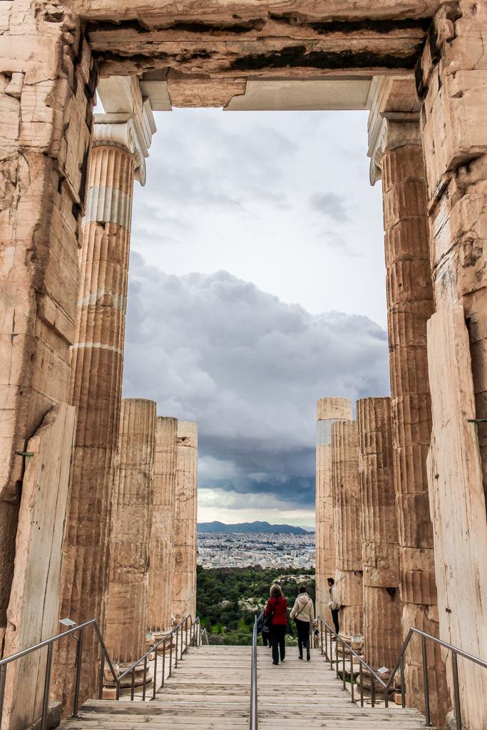 The Propylaea of the Acropolis, Athens, Greece