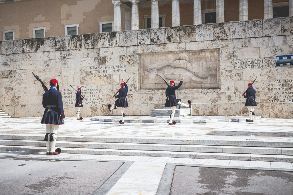 Changing of the Guard at Syntagma Square, Athens, Greece
