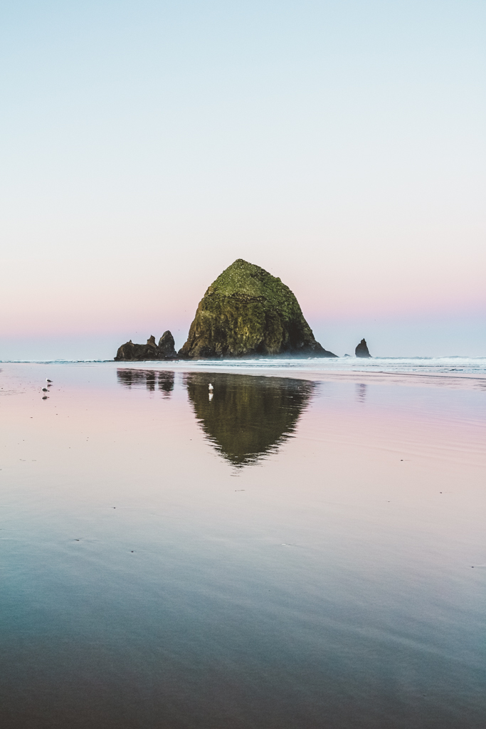 Sunrise in Cannon Beach, Oregon