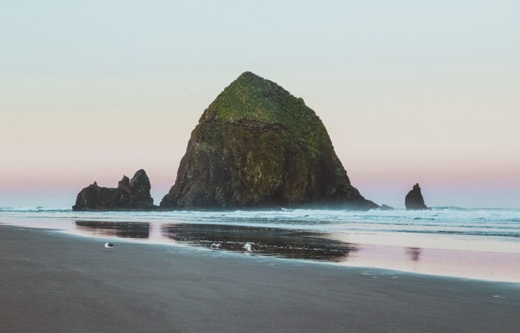 Sunrise at Haystack Rock, Cannon Beach, Oregon