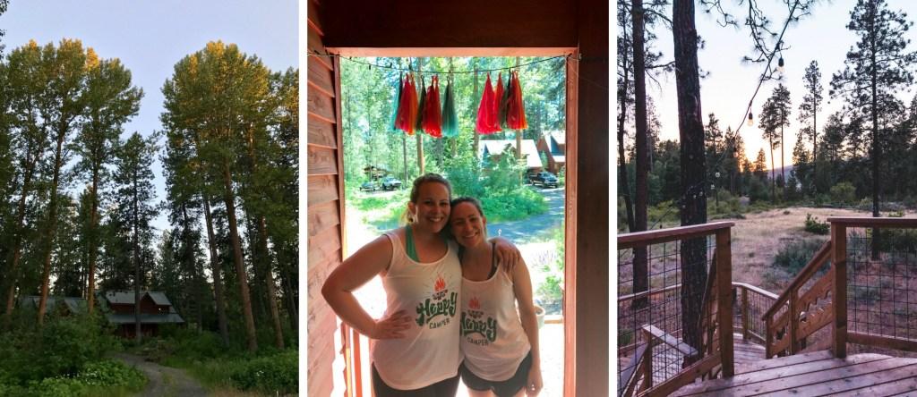 Camp Bachelorette in Cle Elum, Washington