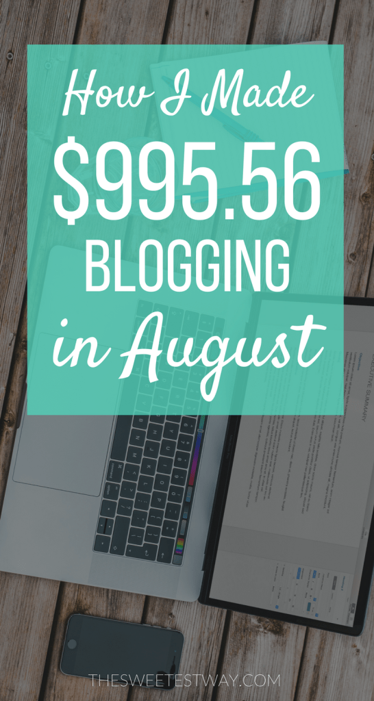 How I made 1k in August from blogging!