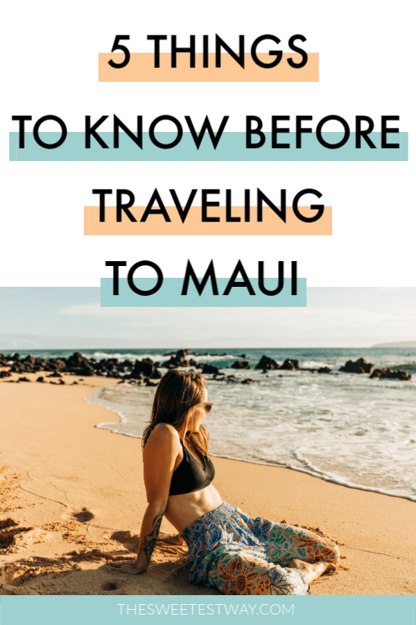 5 handy Maui travel tips to make planning your trip that much easier! Maui is magical!