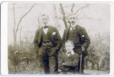 Archie, Wallace Graham and Willie in Braehead Gardens 1901